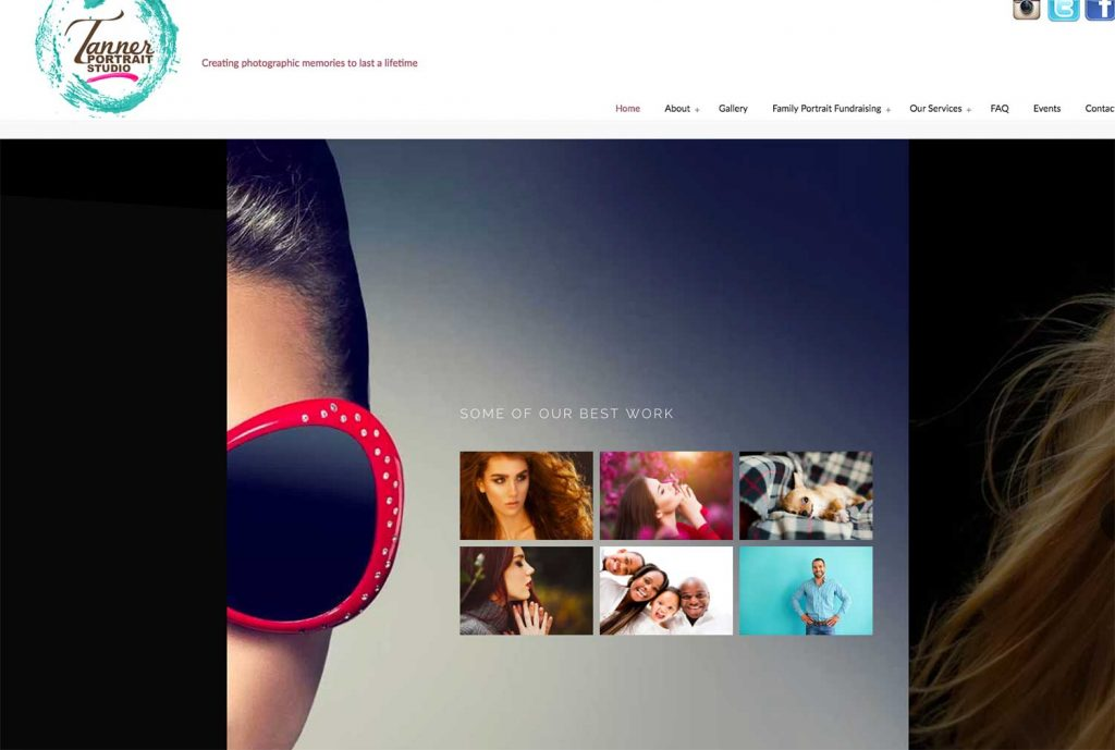 Local photo studio gets a website make-over